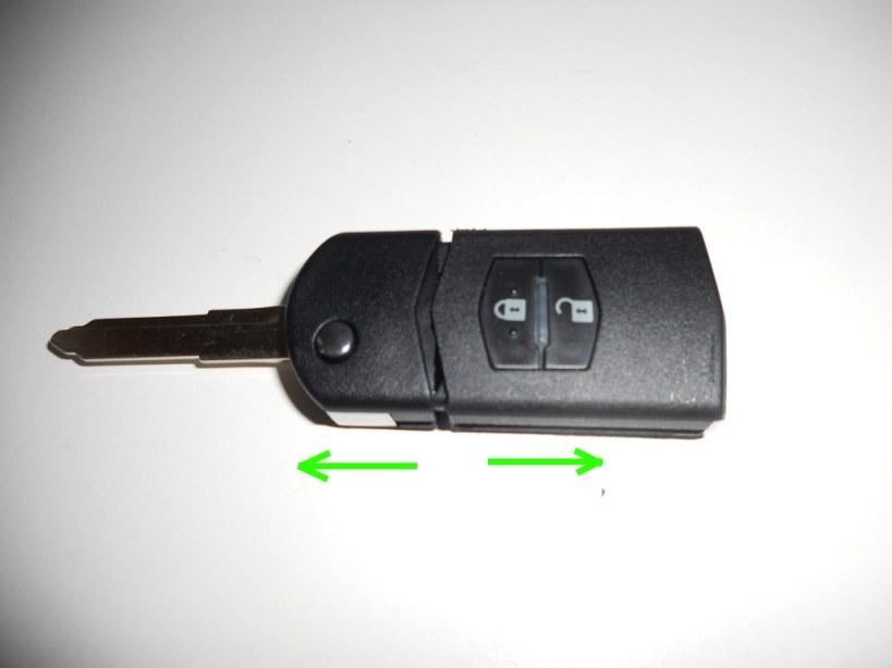 mazda 2, 3, 5, 6, bt50 klappschlüssel - anleitung